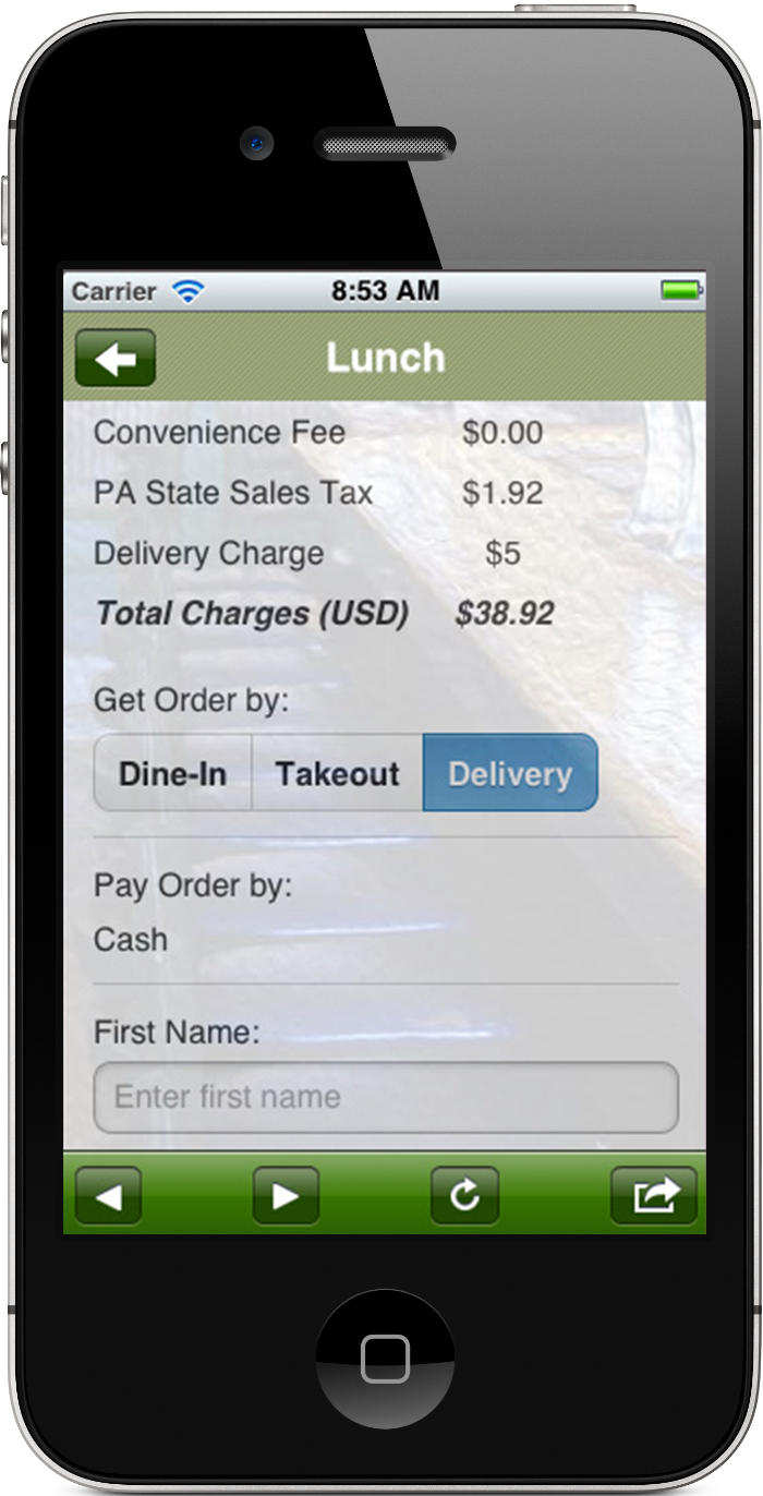MRA Mobile Ordering